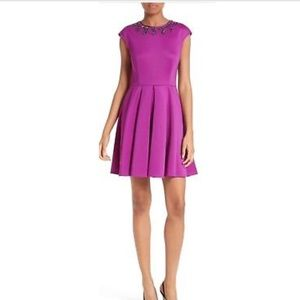 Ted Baker J'adore Embellished Fit & Flare Dress